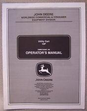 JOHN DEERE OPERATOR'S MANUAL 10P UTILITY CART OMM155001 A6