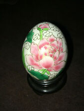 Vintage small ceramic easter egg with gold trim, very cool awesome egg