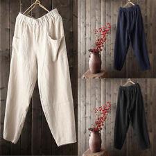 Las Mejores Ofertas En Pantalones De Lino Azul Sin Marca Para Hombres Ebay