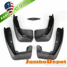 US 4X Black Mud Flaps Splash Guards Fender Front + Rear Set Fit Honda CR-V 17-19