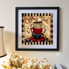 1set diy 5d diamond painting coffee time picture embroidery home wall decoration