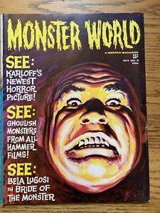 MONSTER WORLD  #5 OCTOBER 1965 FN WARREN PUBLISHING