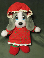 Vtg APPLAUSE Plush Stuffed Animal Mrs Claus Holiday Christmas MOUSE 12""