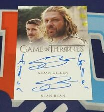 2020 The Complete Game of Thrones Aidan Gillen and Sean Bean Dual Autograph