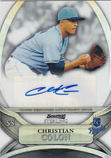 2010 BOWMAN STERLING CHRISTIAN COLON RC AUTO /199 REFRACTOR #BSP-CCO