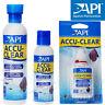 Accu-Clear Cloudy Aquarium Water Clarifier AccuClear 1.25oz 4oz 8oz 16oz API