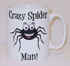 Crazy Spider Man Mug Can Personalise Funny Animal Lover Beware Arachnid Gift