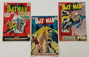 BATMAN #167 168 174 DC Silver Age Comic 3pc Run Lot Detective F/VF  VF-  FN+