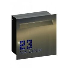 Malcolm Stainless Steel Letterbox - Brickin Mailbox or Fence Mount Letter Box
