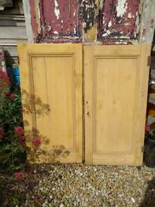 C82a (38 x 38 1/2) Pair of Old Victorian Cupboard Doors from U.K finest
