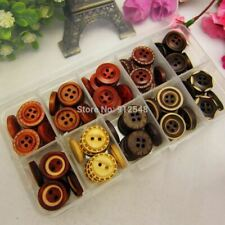 style mix 100pcs 15mm wood button wholesale Children's clothes button accessorie