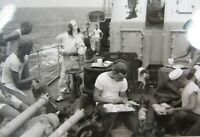 Navy Equator Crossing Shellback Ceremony Photo Pollywog King Neptune 1950's