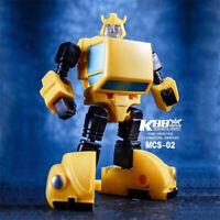 Bumblebee Autobot G1 KBB MCS-02 4in Action Figure Mini Robot Deformable Kids Toy