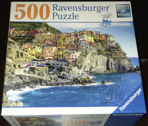 Ravensburger 500 Piece Jigsaw Puzzle Cinque Terre Sunshine Italy Water Colorful