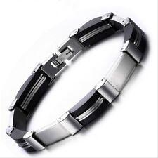 Punk Stainless Steel Bracelet Link Chain Biker Bicycle Bracelets Men Jewelry