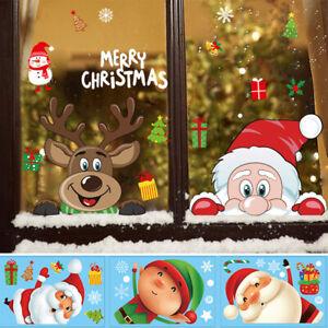 Christmas Removable Santa Claus Window Decals Home Shop Decor Xmas Stickers 1PC