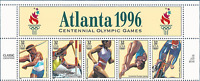 Stamps 3068 2496 2807 2553 Olympics 1994 1992 1996 Olympian Zip Plate Blocks