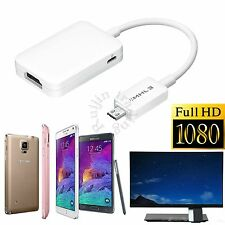 NEW For Samsung Galaxy S5 S4 S3 Note 3 4 MHL HDMI HDTV Adapter MHL 11Pin Cable