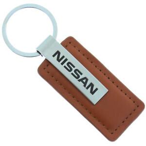 Nissan Leather Keychain (Brown)