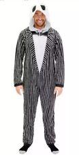 Nightmare Before Christmas Jack Skellington Union Suit Hooded Costume Mens Sz M