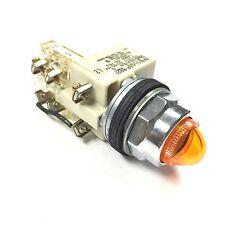 9001KT1A9 Square D Push-to-Test Pilot Light, Amber Plastic Lens 110/120V 50/60Hz