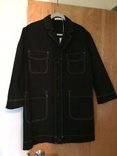 "NWT Women's Peter Jensen black cotton canvas ""lab coat"", NWT, size XS"