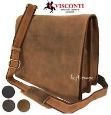 Messenger Shoulder Bag Real Leather Visconti Harvard Medium New 16025