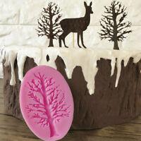 Silicone 3D Tree Fondant Mold Cake Chocolate Sugarcraft Baking Mould Decoration