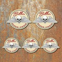 Bobber Laminated Sticker set cream motorbike motorcycle Biker Triumph BSA Custom