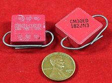 2 Cornell Dubilier 1800pf / 500V +/-5% Molded Mica Capacitors NOS Mil-Spec 1966