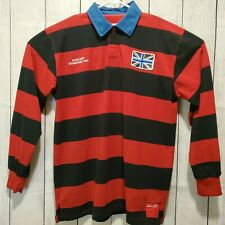 PJ Mark Men's Elite Crew Est. 1994 UK Flag Distress Rugby Long Sleeve Shirt Sz L