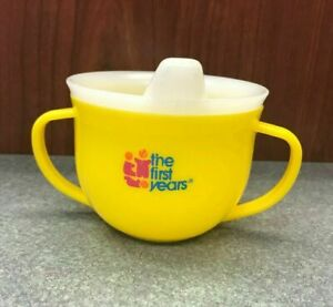 Vintage The First Years Toddler Yellow Sippy Cup, 1980, Baby Infant Drinkware