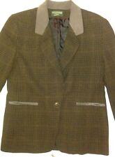 WOMEN'S JACKET suede collar trim  Brown marroon black size 12,  Harve Benard