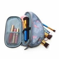Organizer Double Layer Travel Pouch Flamingo Cosmetic Bag Women Makeup Bags
