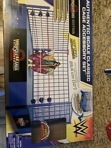 RARE! WWE Authentic Scale Classic Cage Accessory Set WRESTLEMANIA EDITION