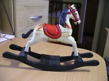 """mini wooden rocking horse 9"""" long 6"""" tall 2"""" wide"""