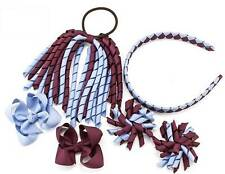 School Hair Bow Clips Alice band Korker Bobble PonyTail Holder Sets