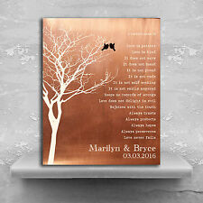 (LT-1305) Personalized Bare Tree Love Birds Personalized Corinthians Verse Fa...
