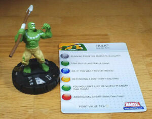 Hulk #043 SR from Incredible Hulk Heroclix set with card super rare House of M