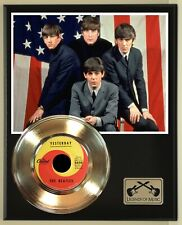 "Beatles ""Yesterday"" Gold Record display wood plaque"