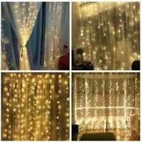 Warm White 100 LED Fairy Curtain String Lights Wedding Party Perfect Holiday New