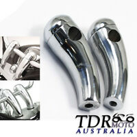 "Chrome 3.5"" Motorcycle Handlebar Round Pullback Risers bikes (7/8"" 22mm Bar)"