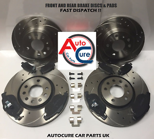 LEXUS IS 300H MK3 2013> FRONT & REAR BRAKE DISCS + PADS DRILLED & GROOVED