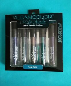 🆕Kleancolor Madly Matte Metallic Liquid Lip Gloss Lipstick Set of 5 Cool Tones
