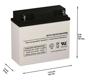 SP-12-18 12V 18AH Battery - Box of 2