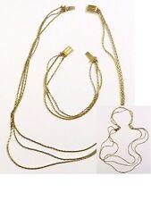 collier bracelet RARE 2 en 1 signé chaîne bijou vintage couleur or argent  3188