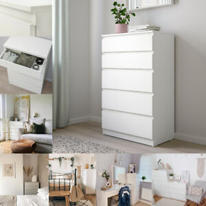 NEW IKEA KULLEN Bedside Room Furniture Chest of 5 Drawers Storage White 70x112cm