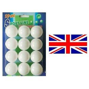 12 x White Table Tennis Balls Training Ping Pong UK Seller
