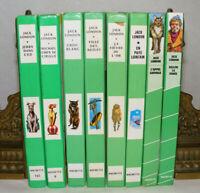Lot de 8 livres de Jack LONDON Bibliotèque verte Croc Blanc Appel Sauvage Bellew