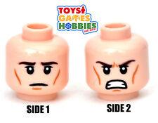 *NEW* LEGO Minifigure Minifig Head Stern Angry Tan Light Nougat Heroes #1766